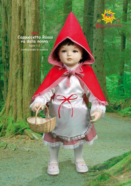 Cappuccetto Rosso va dalla nonna costume carnevale