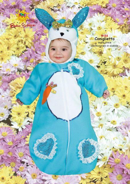 Coniglietto carnevale neonato fagottino