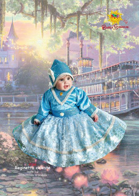 Reginetta Celeste carnevale pargoletti vestiti di carnevale baby