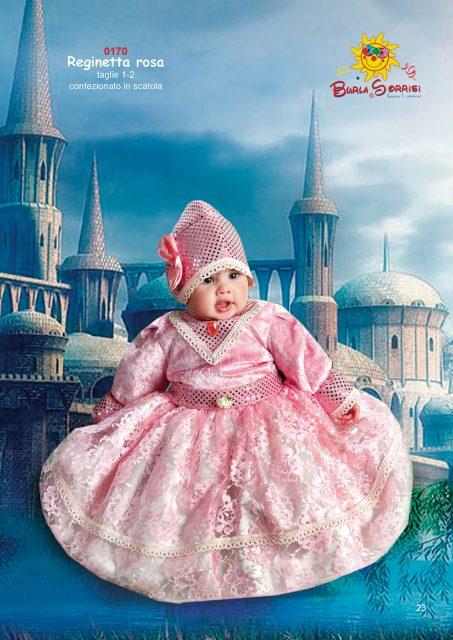 Reginetta Rosa abito di carnevale