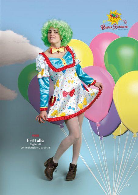 Frittella costume di carnevale clown