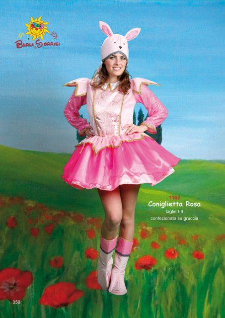 Coniglietta Rosa  vestiti di carnevale adulto