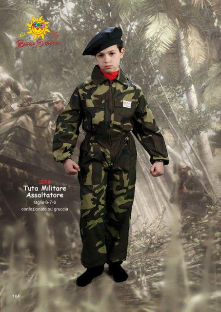 Tuta militare assaltatore costume carnevale