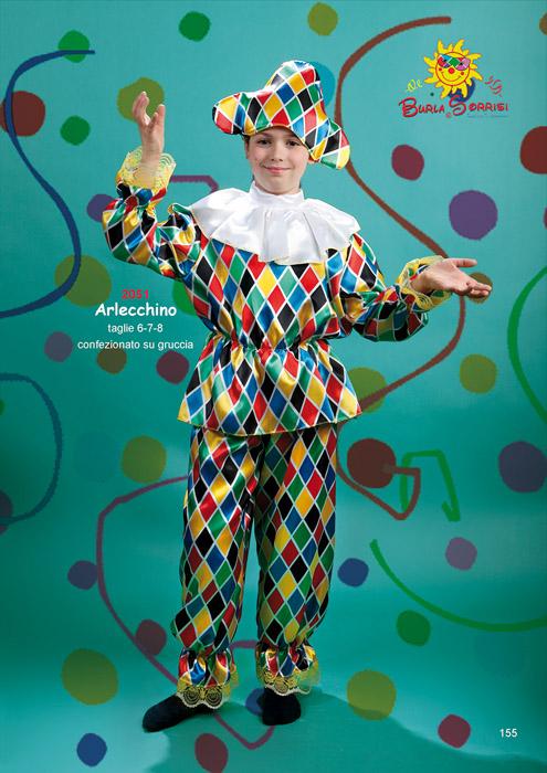 Arlecchino vestito di carnevale