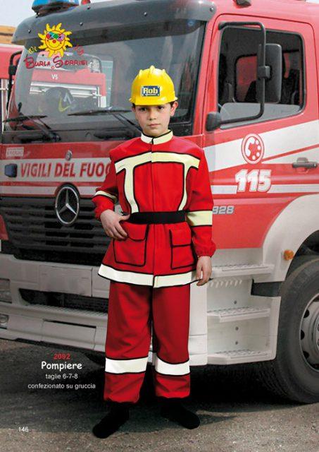 Pompiere costume carnevale