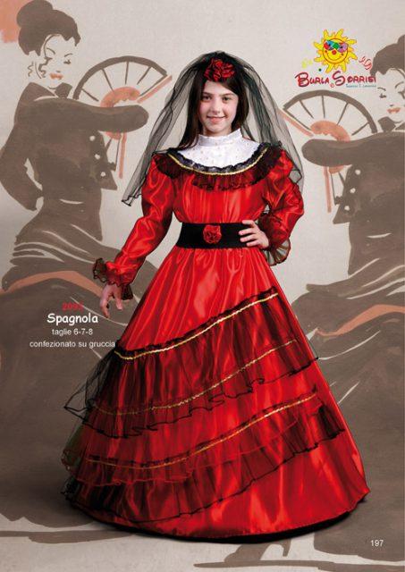 Spagnola vestito di carnevale per bambini spagnola