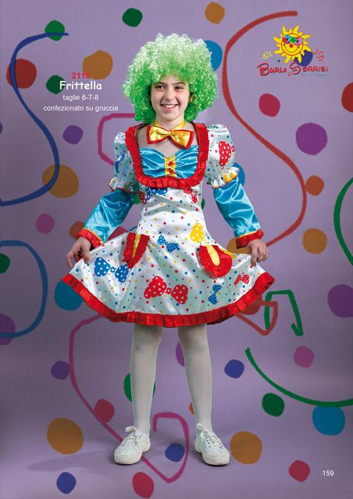 Frittella costume carnevale clown bambina