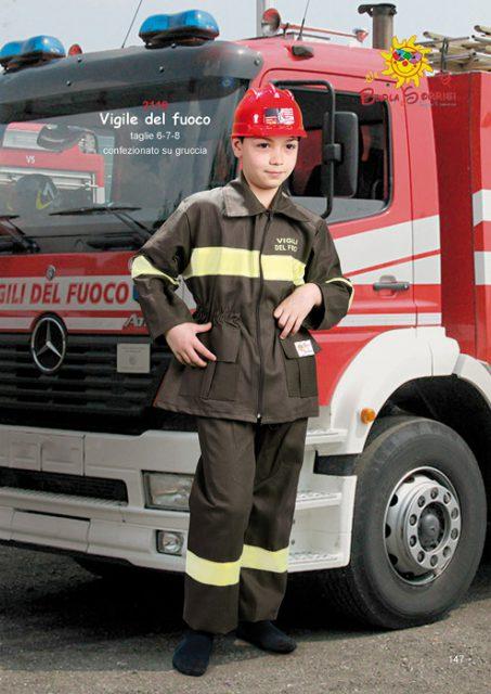 vigile del fuoco costume carnevale pompiere