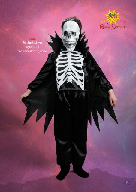 Scheletro costume carnevale