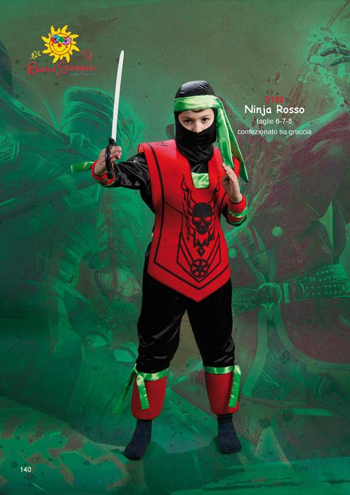 Ninja Rosso costume carnevale