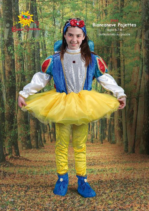 Biancaneve Pajettes costume carnevale