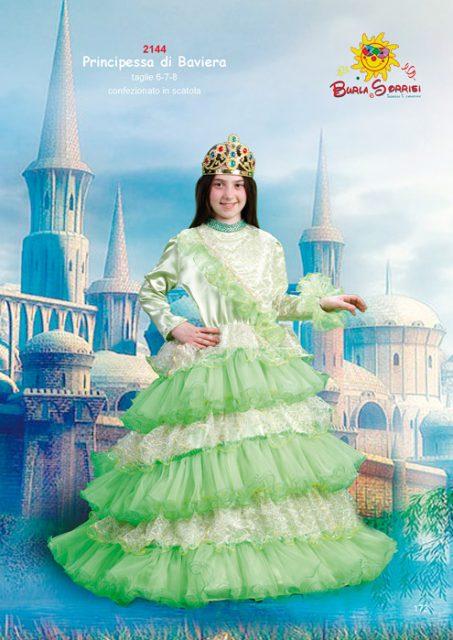 Principessa di Baviera costume carnevale vestiti di carnevale per bambini ingrosso