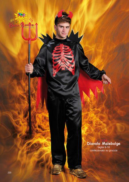 Diavolo Malebolge vestito di carnevale