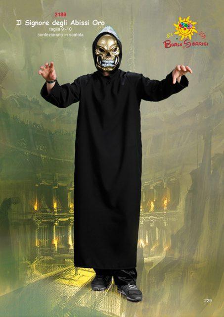Il Signore degli Abissi Oro costume carnevale