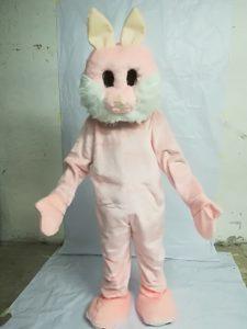 mascotte coniglietta rosa