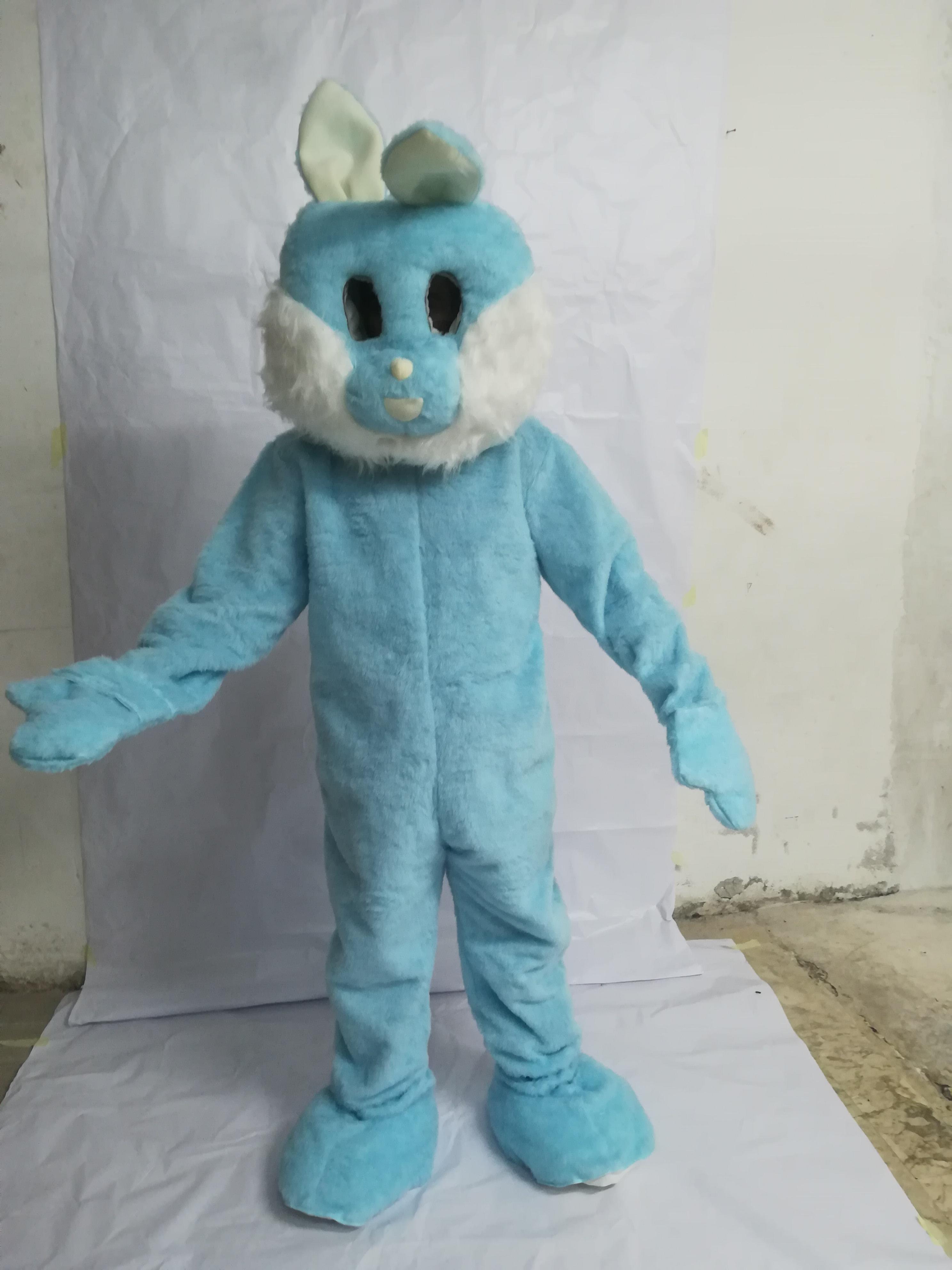 mascotte coniglio celeste costumi da mascotte