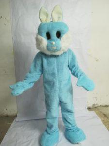 mascotte coniglietto celeste