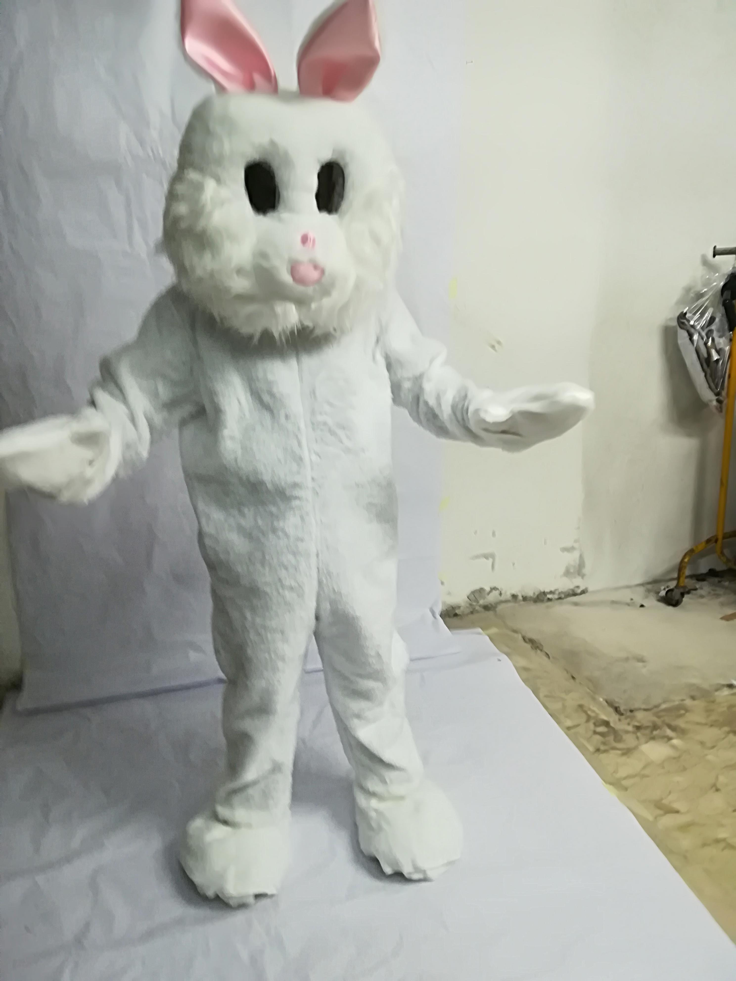 mascotte coniglio mascotte coniglietta bianco rosa