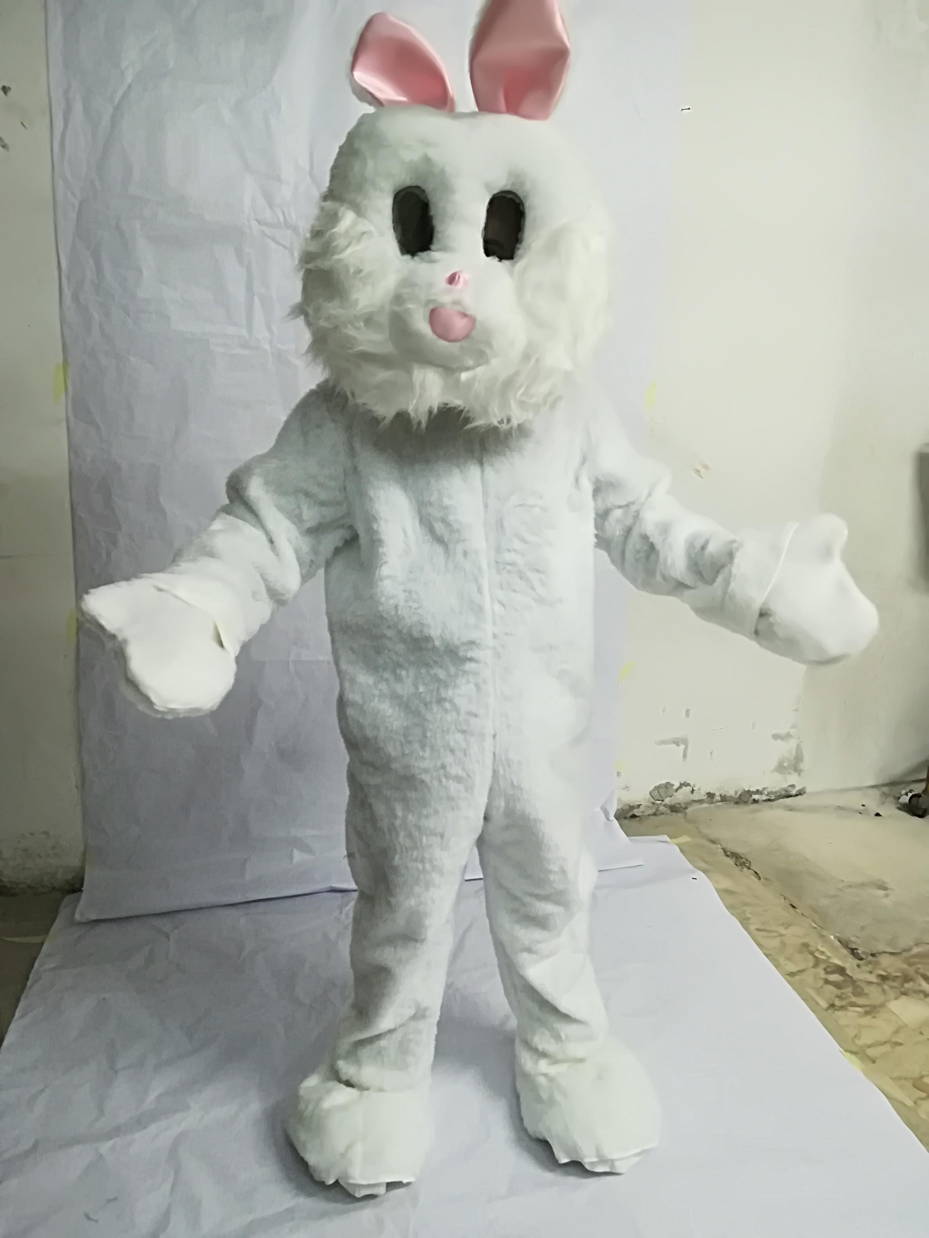 mascotte coniglio bianco costume mascotte online